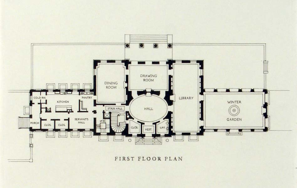 Georgian home designs floor plans for Georgian mansion floor plans